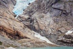 Van de gletsjerbasis tot het meer royalty-vrije stock afbeelding