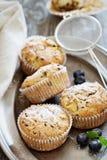 Van de gluten vrije amandel en haver muffins Stock Afbeeldingen