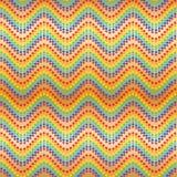 Van de de golfregenboog van de ster chervon lijn de symmetrie naadloos patroon royalty-vrije illustratie