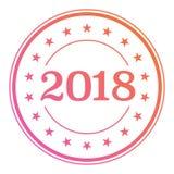 van de de gradiëntcirkel van 2018 de verbindingskenteken met het pictogram van de stergrens Stock Foto's