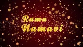 Van de de groetkaart van Ramanamavi de tekst glanzende deeltjes voor viering, festival vector illustratie