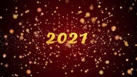 van de de groetkaart van 2021 de tekst glanzende deeltjes voor viering, festival vector illustratie