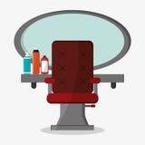 Van de haarsalon en kapper het ontwerp van winkelhulpmiddelen vector illustratie