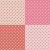 Van de Harten van Crosshatch Naadloos Patroon Als achtergrond Stock Afbeelding