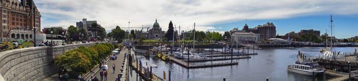 Van de de Havenwaterkant van Victoria Brede Panoramische Cityscape BC Van de binnenstad royalty-vrije stock afbeelding