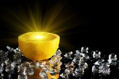 Van de helft van sinaasappel Stock Foto's