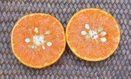 Van de helft van sinaasappel Stock Afbeeldingen