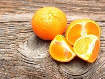 Van de helft van sinaasappel Royalty-vrije Stock Foto's