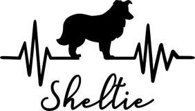 Van de Herdershondsheltie van Shetland de hartslagwoord royalty-vrije illustratie