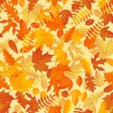 Van de herfstbladeren naadloos patroon als achtergrond Eps 10 stock illustratie