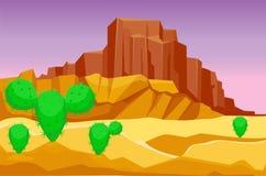 Van de het achtergrond zandsteenwildernis van woestijnbergen het landschaps van het van de het landschapsreis de droge onderzon h vector illustratie