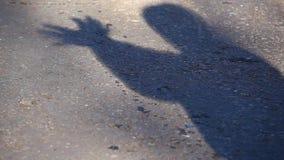 Van de het asfaltvogel van de schaduwmens het Symbool hd lengte stock video