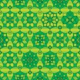 Van de het beeldverhaalsymmetrie van de Ramadanster de streep naadloos patroon vector illustratie