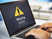 Van de het Berichtveiligheid van de waarschuwingsaandacht Waakzaam het Tekenconcept royalty-vrije stock fotografie