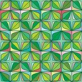Van de het blad groene symmetrie van de diamantvorm het viersterren naadloze patroon royalty-vrije illustratie