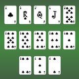 Van de het casinoflits van speelkaarten de koninklijke spades Reeks Clubs royalty-vrije illustratie