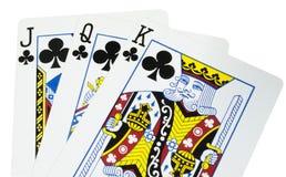 Van de het casinoflits van speelkaarten de koninklijke spades stock afbeeldingen