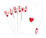Van de het casinoflits van speelkaarten de koninklijke spades Royalty-vrije Stock Foto's