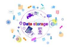 Van de het Centrum Ontvangende Server van de gegevensopslag van het de Computerapparaat van het de Informatiegegevensbestand de T Royalty-vrije Stock Foto's