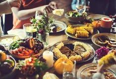 Van de het Dessertviering van de pompoenpastei het Concept van de de Dankzeggingsvakantie royalty-vrije stock foto