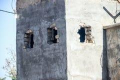 Van de het dorpsveiligheidscontrole van Afghanistan het punt en de beelden in het Noordwesten in het midden van het bestrijden va royalty-vrije stock foto