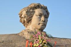 Van de het Eilandenjeugd van Tchang-cha het Oranje standbeeld van Mao Zedong Royalty-vrije Stock Foto's