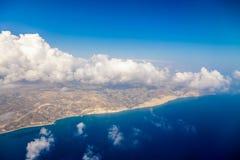 Van de het eilandkust van Cyprus de luchtmening Royalty-vrije Stock Afbeelding