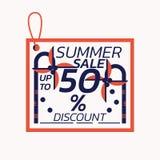 Van de het Etiketkorting van de de zomerverkoop de kokosnotenthema - Vectorillustratie Stock Fotografie
