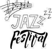 Van de het festivalbanner van de jazzmuziek de afficheillustratie royalty-vrije illustratie