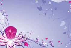 Van de het fruitbloem van de hartstocht lilac achtergrond. vector illustratie