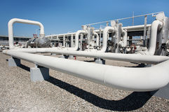 Van de het gasverwerking van de olie van de de installatiepijp de lijnkleppen Royalty-vrije Stock Fotografie