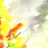 Van de het gebladertevlam van de waterverfherfst abstracte de textuurachtergrond Stock Foto