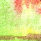 Van de het gebladertevlam van de waterverfherfst abstracte de textuurachtergrond Royalty-vrije Stock Afbeeldingen