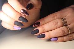 Van de het gelvernis van het manicureontwerp de kleur Chrome Royalty-vrije Stock Afbeelding