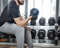 Van de het Gewichtsgeschiktheid van de domoorgymnastiek de Domoor Actief Concept Stock Afbeeldingen