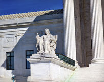 Van de het Hooggerechtshofrechtvaardigheid van de V.S. het Washington DC van Statue Capitol Hill stock afbeeldingen