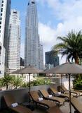 Van de het hotelpool van de luxe het gebied & de mening Royalty-vrije Stock Fotografie
