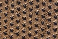 Van de het ijzerroest van het sterrenmetaal de achtergrond en de textuur stock afbeeldingen