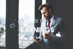 Van de het Inkomens Financieel Economie van winstinkomens de Opbrengsconcept royalty-vrije stock afbeelding