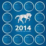 van de het jaarkalender van 2014 de nieuwe vectorillustratie Stock Foto's