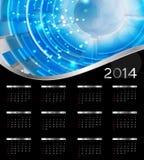 van de het jaarkalender van 2014 de nieuwe vectorillustratie Royalty-vrije Stock Foto