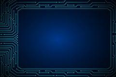 Van de het kader abstract technologie van de lijnkring ontwerp als achtergrond Royalty-vrije Stock Afbeelding