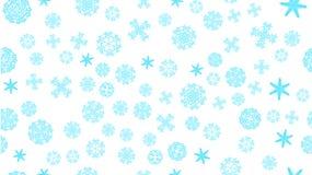 van de het kader sneed de blauwe sneeuwwinter van de patroontextuur feestelijke Kerstmissamenvatting sneeuwvlokken op een witte a royalty-vrije illustratie