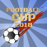 Van de het kampioenschapskop van de voetbal 2018 wereld vectorvoetbal als achtergrond royalty-vrije illustratie