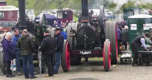 Van de het Kasteelmeidag van Shanes van stoommotoren van de de Stoomverzameling het Landgoed Antrim Noord-Ierland op 6 Mei 2019 stock footage
