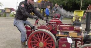 Van de het Kasteelmeidag van Shanes van stoommotoren van de de Stoomverzameling het Landgoed Antrim Noord-Ierland op 6 Mei 2019 stock video