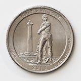 Van de het Kwartdollar van Verenigde Staten het Achtergezicht Royalty-vrije Stock Foto's