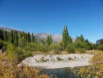 Van de het landschapsrivier van Argentinië Patagonië de bergen Gr bolson royalty-vrije stock foto's