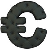 Van de het leerdoopvont van de luxe het zwarte Euro symbool Royalty-vrije Stock Afbeelding