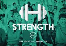 Van de het Levens Geestelijk Voeding van de sterktegezondheid de Vitaliteitsconcept Stock Afbeeldingen